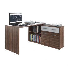 Tempo Kondela PC stůl RAFAEL NEW - švestka /bílá