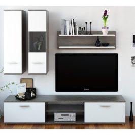 Tempo Kondela Obývací stěna WAW - dub truflový / bílá