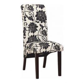 Tempo Kondela Jídelní židle JUDY 2 NEW - bílá / tmavý ořech