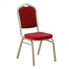 Tempo Kondela Židle ZINA 2 NEW - látka bordo / rám champagne