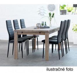 Tempo Kondela Židle COLETA - bílá ekokůže /bílý kov