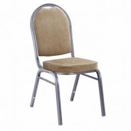 Tempo Kondela Židle JEFF 2 NEW - béžová látka / šedý rám