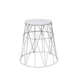 Tempo Kondela Příruční stolek LAVON - bílá
