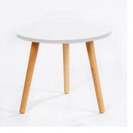 Tempo Kondela Příruční stolek Bazzy 2 - bílá / natural