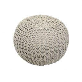 Tempo Kondela Pletený taburet GOBI TYP 2 - krémová bavlna Taburety do obýváku