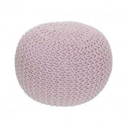 Tempo Kondela Pletený taburet GOBI TYP 2 - pudrová růžová bavlna