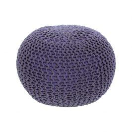 Tempo Kondela Pletený taburet GOBI TYP 2 - fialová bavlna Taburety do obýváku