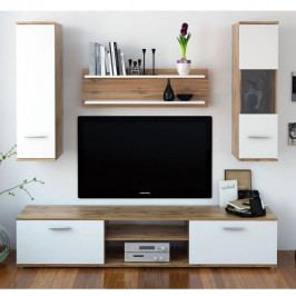 Tempo Kondela Obývací stěna WAW - dub wotan / bílá