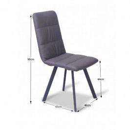 Tempo Kondela Jídelní židle AKIM - šedá