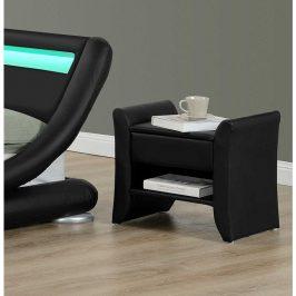 Tempo Kondela Noční stolek BOLTON - černá ekokůže