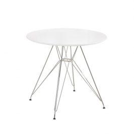Tempo Kondela Jídelní stůl RONDY - bílý lesk