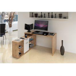 Tempo Kondela PC stůl NOE NEW - dub Wotan / bílá