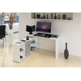 Tempo Kondela PC stůl NOE NEW - bílá / beton