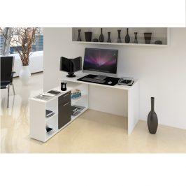 Tempo Kondela PC stůl NOE NEW - bílá / černá Psací stoly