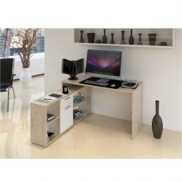 Tempo Kondela PC stůl NOE NEW - dub san remo / bílá