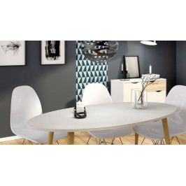 Falco Jídelní stůl Retro ovál 397 bílá/dub