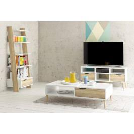 Falco TV stolek Retro 383 bílá/dub