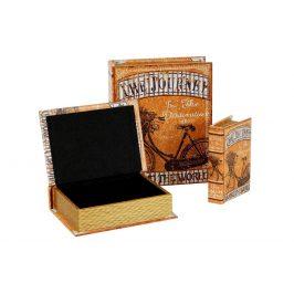 Autronic Krabička ve tvaru knihy, sada 3 kusy - FK3016
