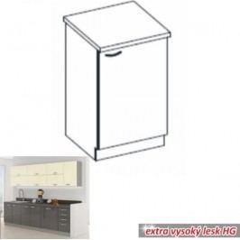 Tempo Kondela Kuchyňská skříňka PRADO 60 D 1F ZB - šedá