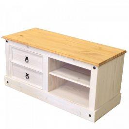 Idea TV stolek CORONA bílý vosk 161017B