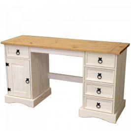 Idea Psací stůl CORONA bílý vosk 16334B Psací stoly