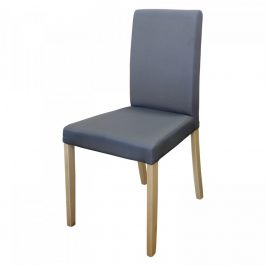 Idea Židle PRIMA šedá/světlé nohy