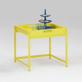 Idea Servírovací stolek ANNIKA žlutý