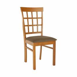 Tempo Kondela Židle GRID - světlá třešeň/látka béžová