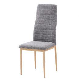Tempo Kondela Židle COLETA NOVA - světle šedá látka / buk Židle do kuchyně