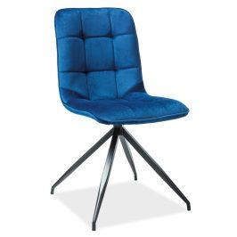 Casarredo Jídelní čalouněná židle TEXO modrá