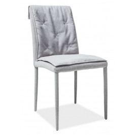 Casarredo Jídelní čalouněná židle NIDO šedá