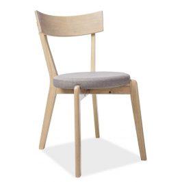 Casarredo Jídelní čalouněná židle NELSON šedá/dub medový