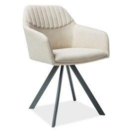 Casarredo Jídelní čalouněná židle MILTON II béžová