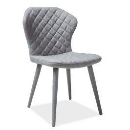 Casarredo Jídelní čalouněná židle LOGAN šedá