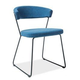Casarredo Jídelní čalouněná židle HELIX modrá