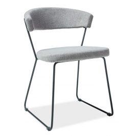 Casarredo Jídelní čalouněná židle HELIX šedá