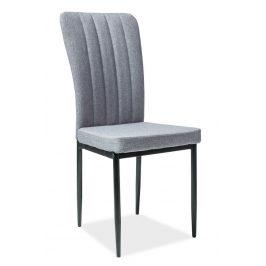 Casarredo Jídelní čalouněná židle H-733 šedá/černá