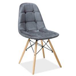 Casarredo Jídelní židle AXEL III šedá aksamit/buk