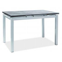 Casarredo Jídelní stůl TURIN rozkládací černá/bílá