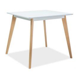 Casarredo Jídelní stůl DECLAN II 80x80 bílá/buk