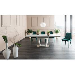 Casarredo Jídelní stůl CLAUDIO II rozkládací bílý mat