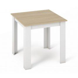 Casarredo Jídelní stůl MANGA 80x80 sonoma/bílá