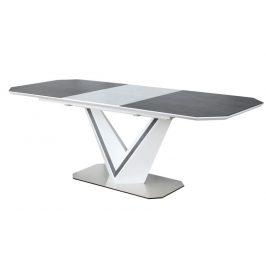 Casarredo Jídelní stůl rozkládací VALERIO CERAMIC šedá/bílý mat