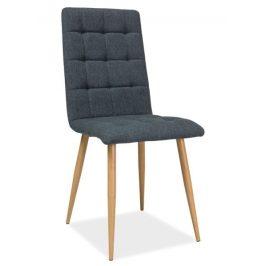 Casarredo Jídelní čalouněná židle OTTO grafit/dub