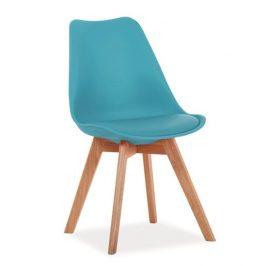 Casarredo Jídelní židle KRIS modrá/buk Židle do kuchyně