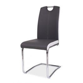Casarredo Jídelní čalouněná židle H-341 šedá/bílé boky
