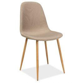 Casarredo Jídelní čalouněná židle FOX béžová Židle do kuchyně