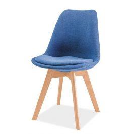 Casarredo Jídelní židle DIOR buk/modrá