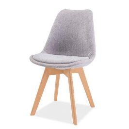 Casarredo Jídelní židle DIOR buk/světle šedá