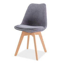 Casarredo Jídelní židle DIOR buk/tmavě šedá